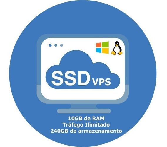 Servidor Vps / 10gb Ram / 240gb Ssd / 4x3.3ghz / Anti-ddos