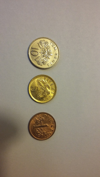Lote Monedas Singapur