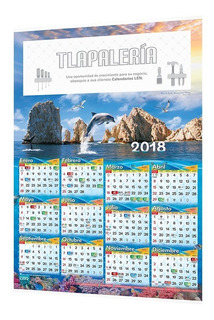 500 Calendarios 2020 Personalizados Corporativos Pared