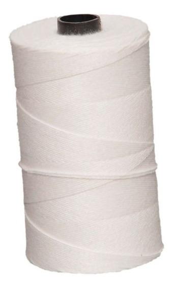 Barbante Branco Fino Poliéster Uso Culinário Rolo 200gr