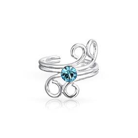 Água Azul Cristal Redemoinho Espiral Arame Cartilagem Orelh