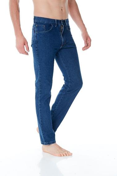 Pantalon Jean Recto Clasico Azul Hombre Talles 38/48 Oferta