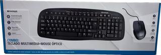 Kit Combo Teclado Multimedia + Mouse Optico Magnum Usb 2.0