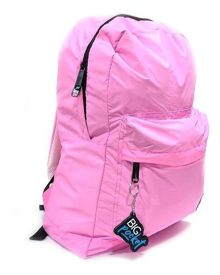 Mochila Escolar Big Pocket 17p Reflex Ppr Original Rosa