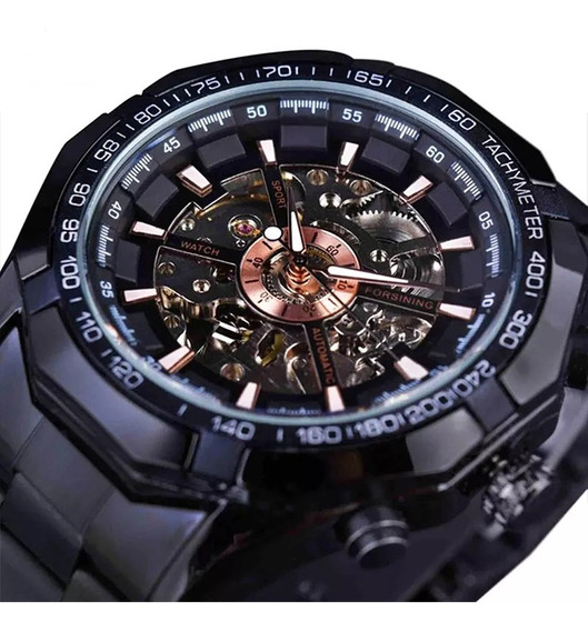 Reloj Pulsera Forsining Acero Inoxidable Para Hombre C/caja