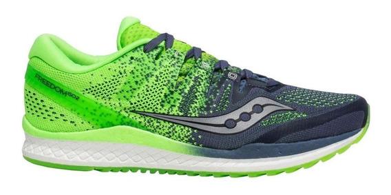 Tenis Correr Saucony Freedom Iso 2 Verde Hombre - Run24