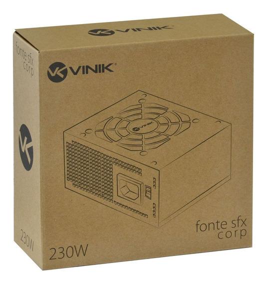 Fonte Vinik Para Gabinete Slim Sfx 230w Bivolt Corp C/nota