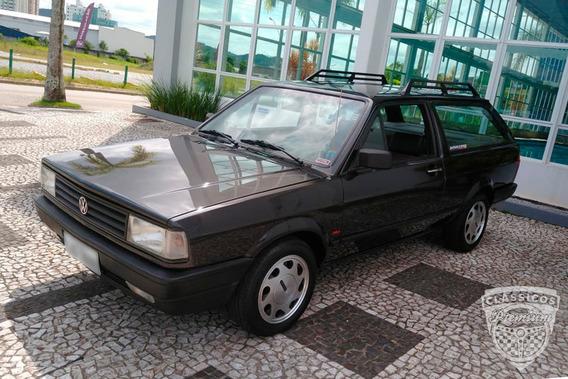 Vw Parati Plus 1.8 Azul 1989 89 - Antiga - Original Quadrada