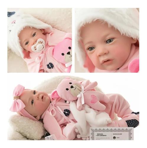 Imagem 1 de 9 de Bebê Reborn Original Pintada Mão 100% Silicone Macio Banho