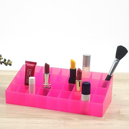 Porta Batom Organizador Kit Maquiagem 36 Batons Pincéis Glos