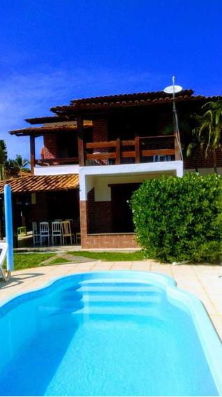 02 Casas Na Beira Da Praia, 10 Suites E Casa C Piscina,5/4