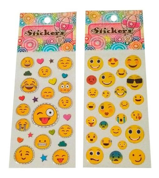 Emoji X10 Planchas De Stickers Emoticones Para Souvenir