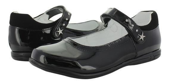 Zapato Escolar Para Niña Calzado Chabelo Negro Charol