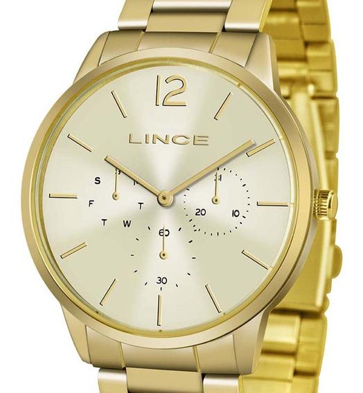 Relógio Lince Dourado Analógico Lmgj087l C2kx Feminino