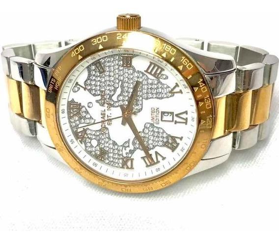 Michael Kors Reloj Dama Edicion Limitada Mapa Cristal Mk6129