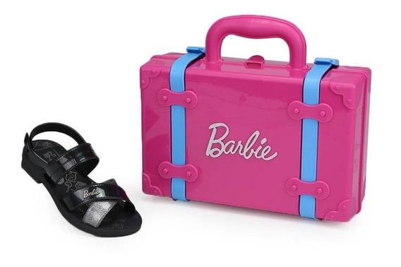 Sandália Infantil Grendene Barbie Mala Viagem Volta Ao Mundo