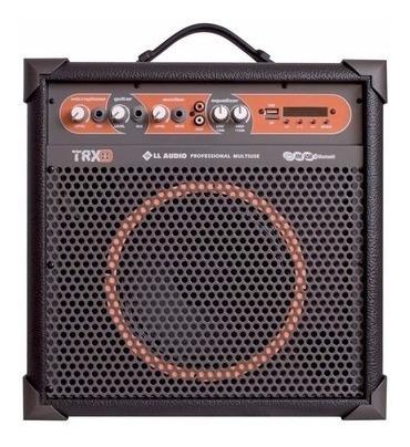 Caixa De Som Amplificada Multiuso Trx8 /45w Bluetooth + Fm