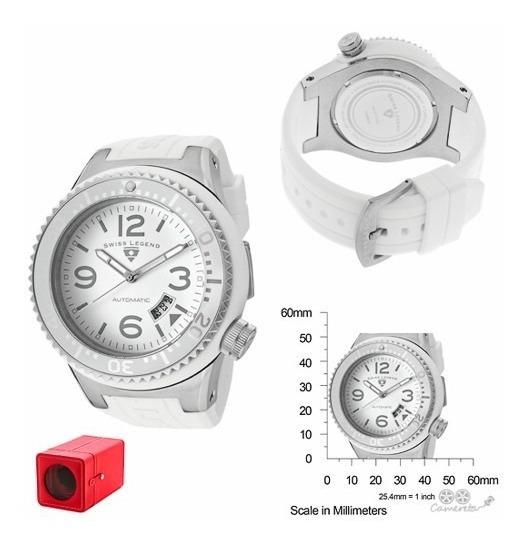 Relógio Automático Swiss Legend Neptune Branco Silicone!