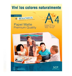 Papel Fotografico Mate A4 108gr X 1000 Hojas - Scp