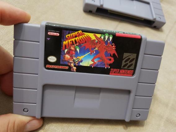 Kit 02 Cartuchos Super Metroid + The Legend Of Zelda Snes