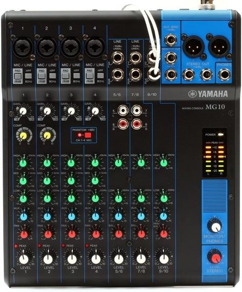 Mesa De Som Com 10 Canais Mg10 - Yamaha