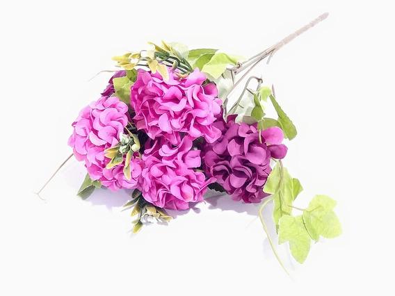 Ramo De Flores Artificiales Hortensias Grandes Pacho