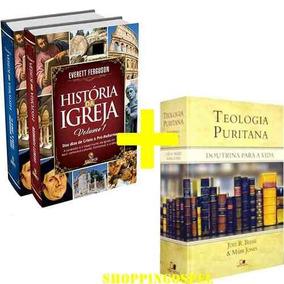 Kit História Da Igreja 2 Volumes + Teologia Puritana