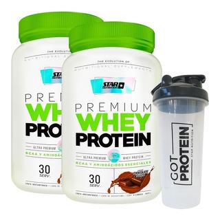 Whey Protein 2 X 2 Lb + Vaso Mezclador Star Nutrition