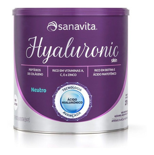 Hyaluronic Skin - Sanavita - Neutro - 270g
