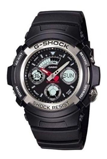 Relógio Casio G-shock Aw590 1adr Esportivo Preto Original