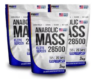 3x Hipercalórico Anabolic Mass 28500 - 3kg - Elite Series