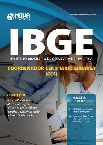 Apostila Coordenador Censitário (ccs) Ibge 2019