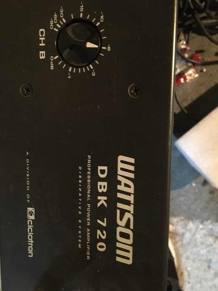 Amplificador Potência Wattson Dbk 720