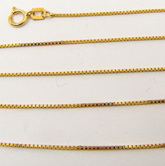 2350 Corrente Veneziana 50 Cm De Ouro 18k-750