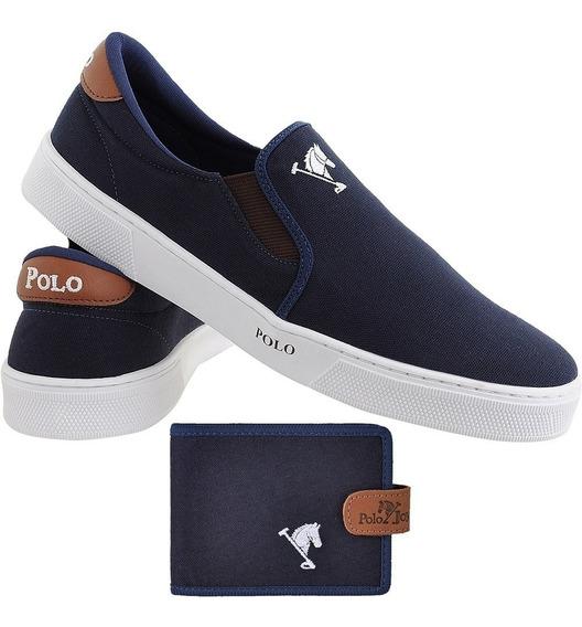 Sapato Masculino Iate Polo Joy + Carteira Brinde