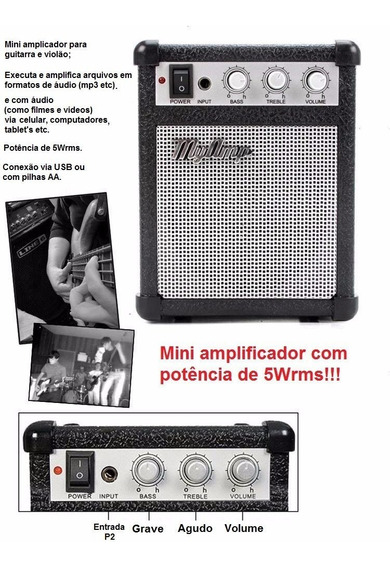 Super Myamp 5wrms Mp3 Speaker Guitar/violão Frete Grátis!!!