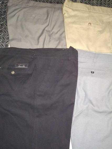 Pantalón De Vestir Pinzado Talle 60. Varios Tonos. Nuevos