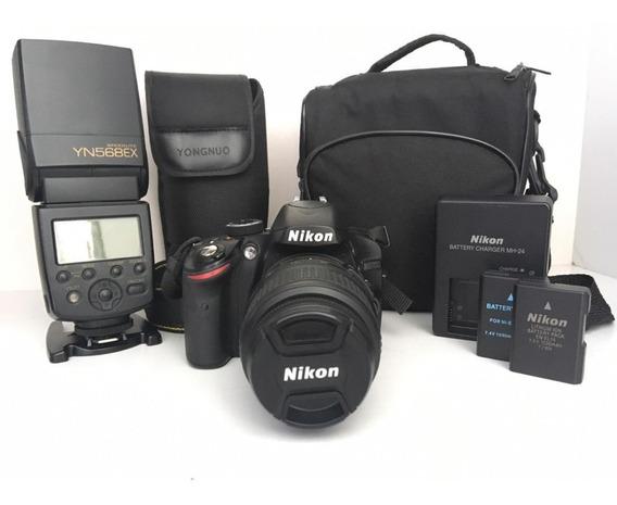 Kit Nikon D3200 + Flash Yongnuo 568ex
