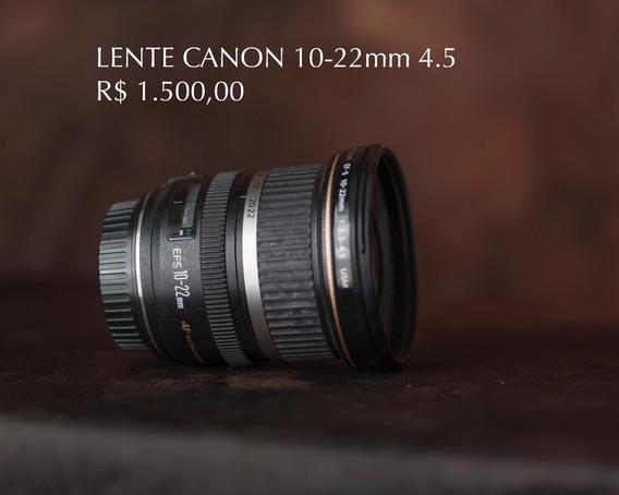 Lente Canon 10-22 4.5