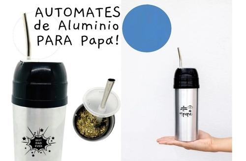 Termo Autocebante Frase Día Del Padre Mate Listo Aluminio