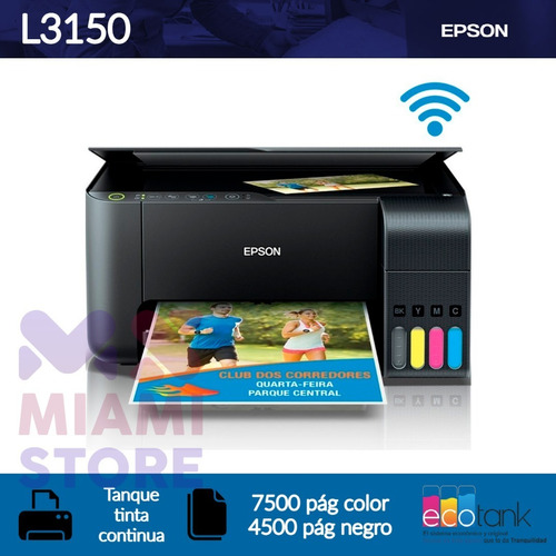 Oferta! Impresora Multifuncional Epson Ecotank L3150 Wi-fi