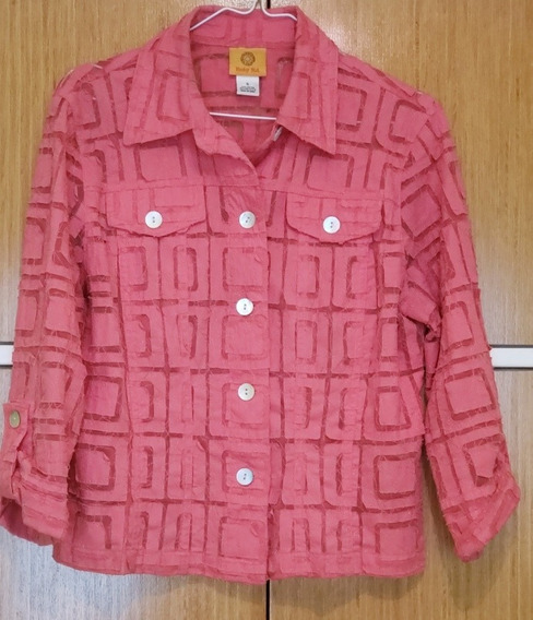 Camisa Importada Color Coral. Talle M. Impecable. Usada