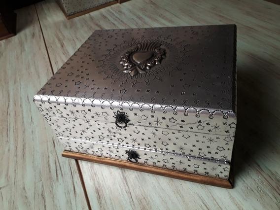 Caja Para Relojes , De Madera Acabado Rustico Y Trabajo Tipo