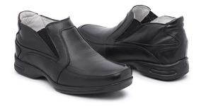 Sapato Masculino Social Confortável Em Couro Palmilha Gel