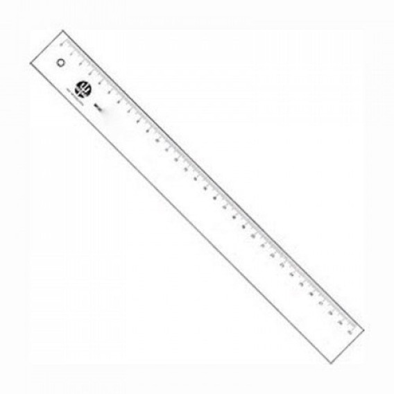 Régua 30cm Transparente Acrílico Legítimo 7130 Trident