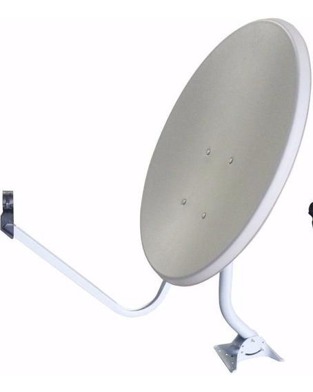 Kit 6 Antena Offset De 60 Cm Banda Ku Medialink Tripé