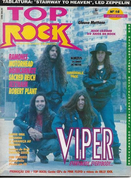 Revista Top Rock 16-viper,motor Head,mick Jagger