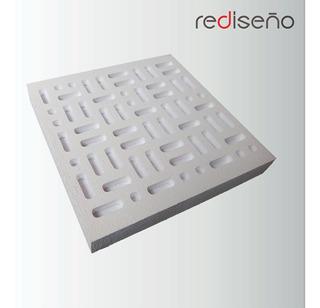 Panel Acústico Fonoabsorbente - Resonador Helmholtz 45x45cm