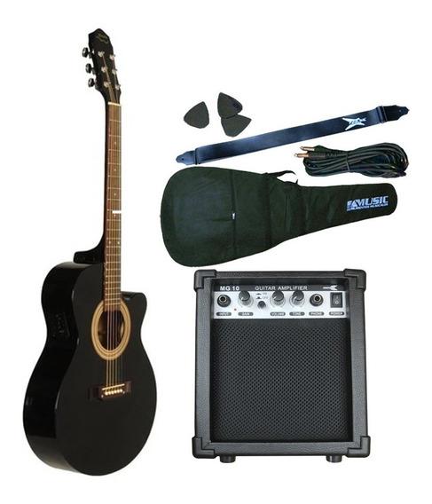 Combo Guitarra Electroacustica Gracia 300eq + Ampli Sx