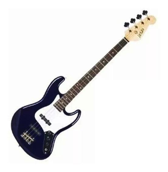 Bajo Electrico Texas E81 2ts 4 Cuerdas Tipo Jazz Bass Blue